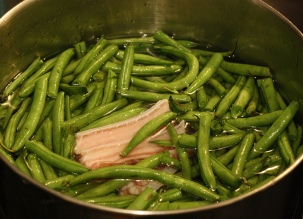 country cooked green beans with new potatoes 2