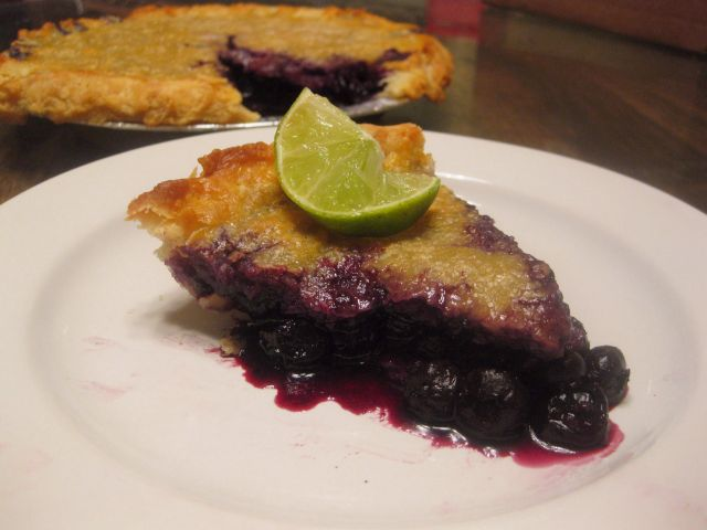 blueberry lime pie