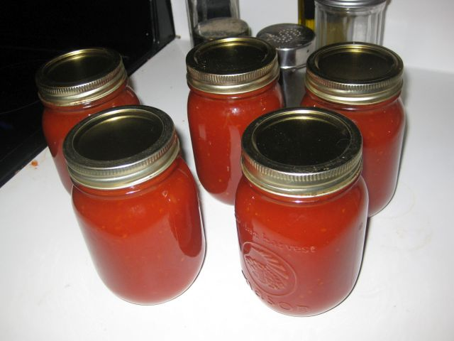 homemade ketchup jars