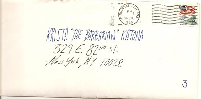 Krista Pille - Letter 3 envelope