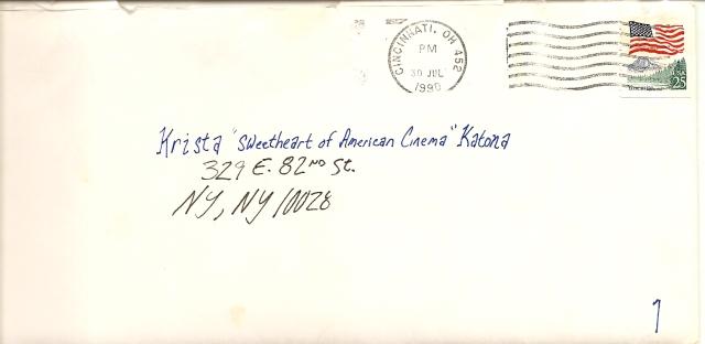 Krista Pille - Letter 1 Envelope