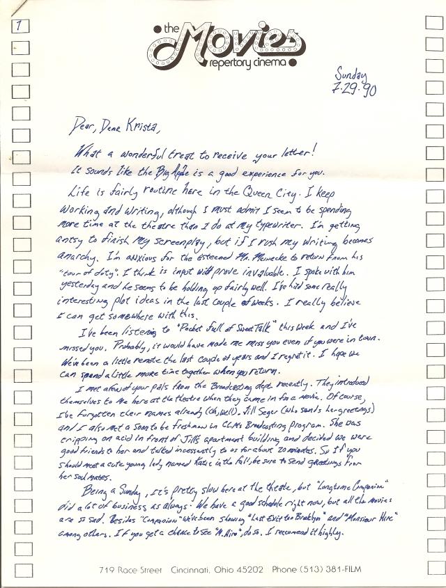 Krista Pille - Letter 1 Page 1
